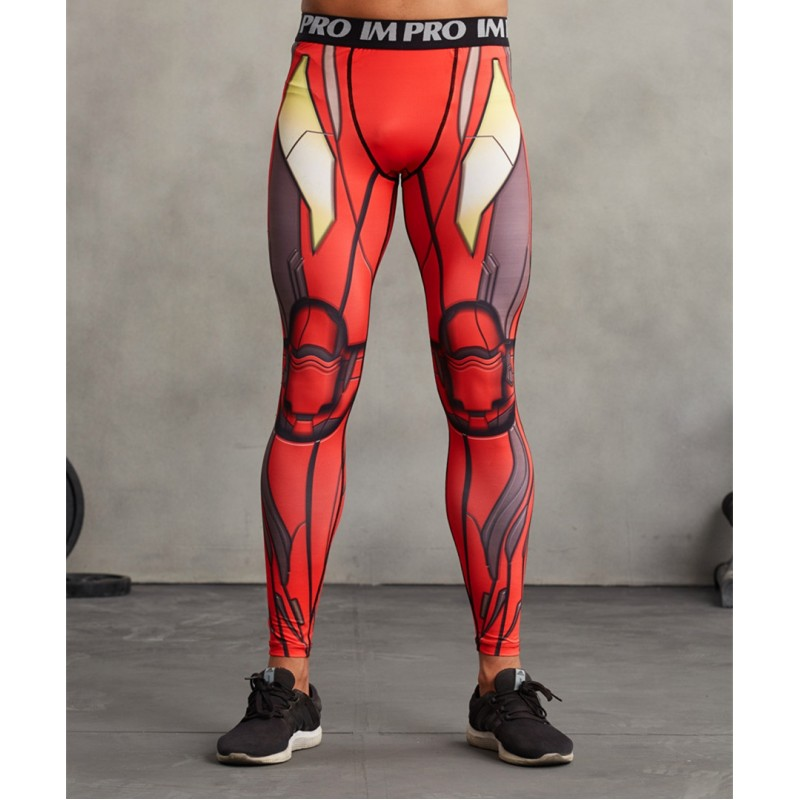 Iron Man Men's Leggings Compression Tights