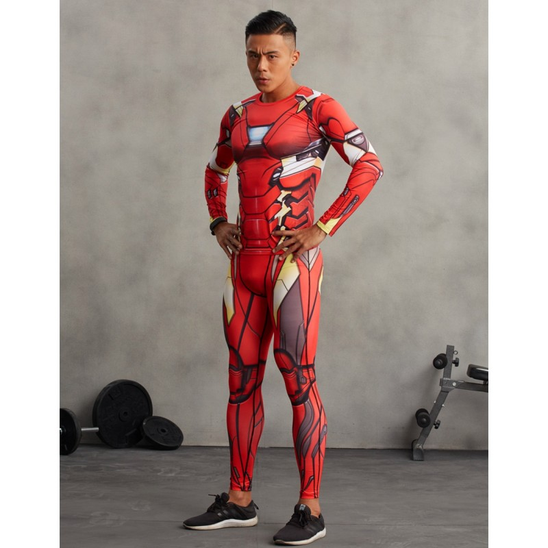 Iron Man Men S Leggings Compression Tights