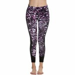 Animal Print Mesh Patchwork Women's Leggings Yoga Workout