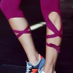 Ballerina Activewear Solid Colors Women's Leggings Yoga Workout Capri Pants