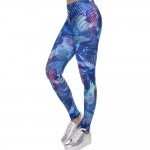 Blue Tropical Women's Leggings Printed Yoga Pants Workout