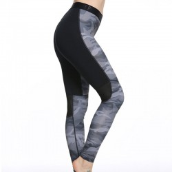Camouflage Patchwork Women's Leggings Printed Yoga Pants Workout