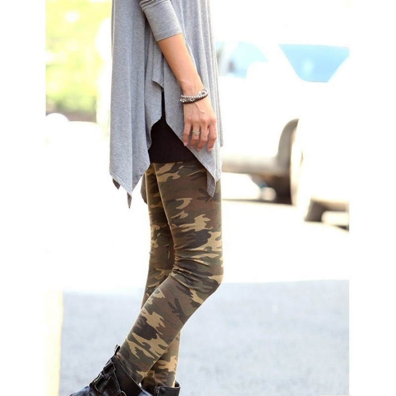 Innovative  Sexy Low Leggings Stretch Yoga Lounge Pants Gym Workout Camouflage OS