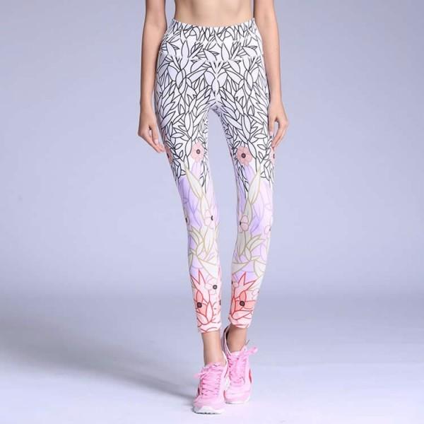Cherry Blossom Doodles Women's Leggings Printed Yoga Pants Workout