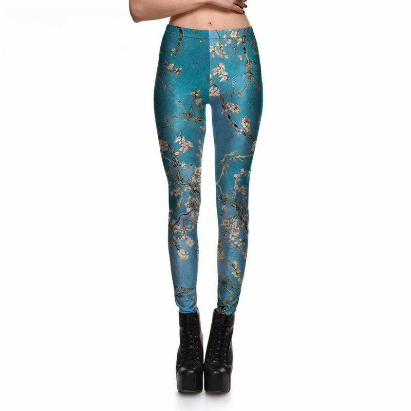 ac017aab9b Cherry Blossoms in the Sky Women's Leggings Printed Yoga Pants Workout