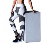 Chevron Checker Women's Leggings Printed Yoga Pants Workout