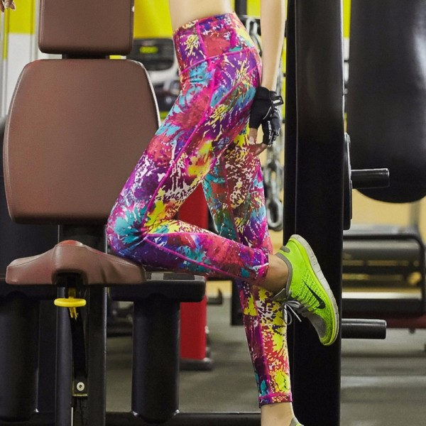 Color Splash Women's Leggings Printed Yoga Pants Workout