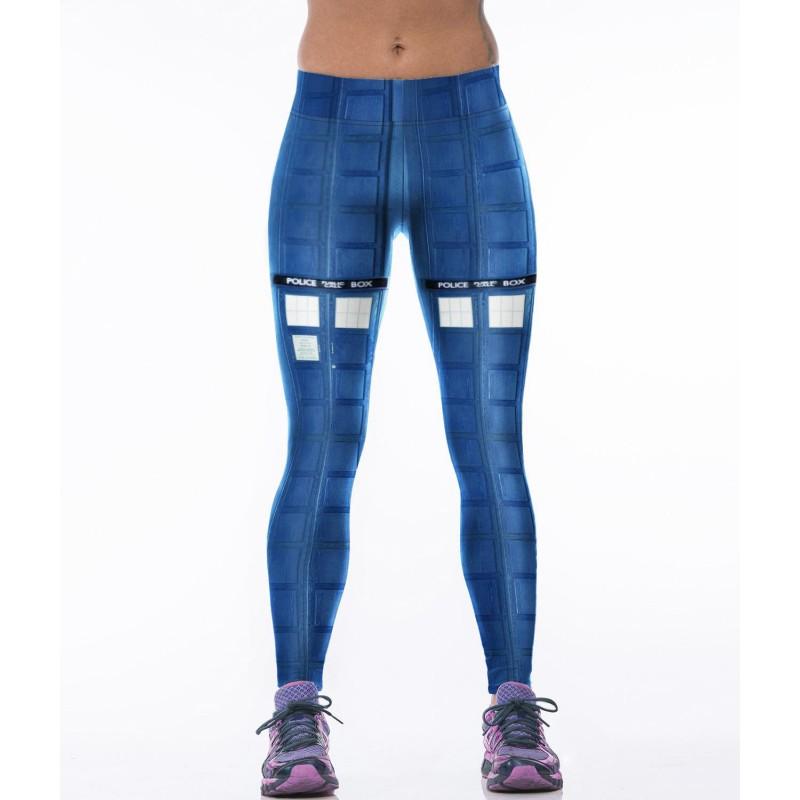 Doctor Who Police Box Women's Leggings Printed Yoga Pants ...