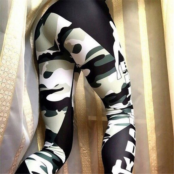 Elite Body Camouflage Women's Leggings Printed Yoga Pants Workout