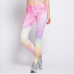 Floral Pastel Rainbow Women's Leggings Printed Yoga Pants Workout