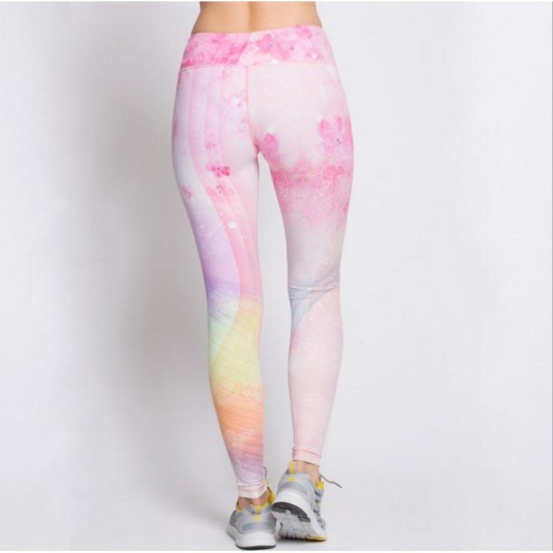 5f2957d0e905 Floral Pastel Rainbow Women's Leggings Printed Yoga Pants Workout