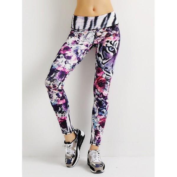 Floral Tiger Women's Leggings Yoga Pants Workout Fitness