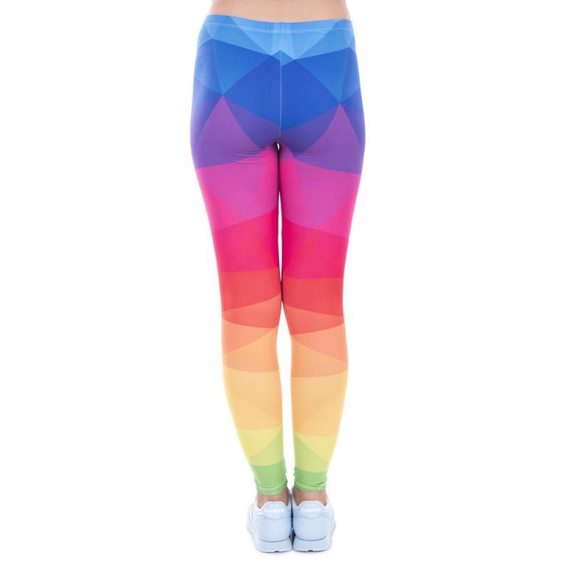 Geometric Rainbow Women's Leggings Printed Yoga Pants Workout