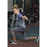 Gray Striped Ombre Women's Leggings Printed Yoga Pants Workout