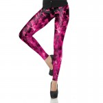 Hot Pink Cats of Fire Women's Leggings Printed Yoga Pants Workout