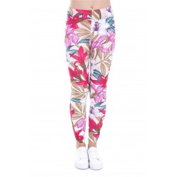 Lily and Iris Floral Women's Leggings Printed Yoga Pants Workout