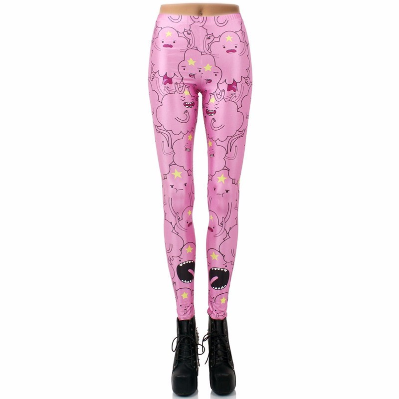 a23be26d4f Lumpy Space Princess Adventure Time Women's Leggings Yoga Workout Capri  Pants