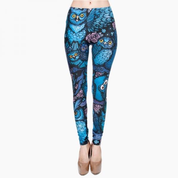 Midnight Owl Women's Leggings Printed Yoga Pants Workout