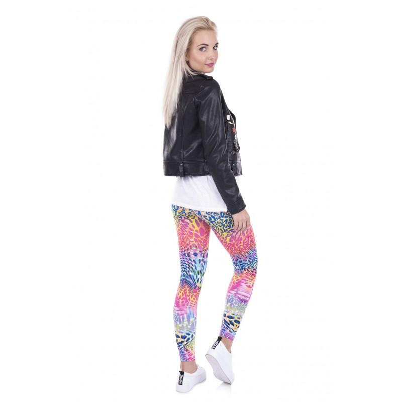 dd783abeab73 Neon Leopard Women's Leggings Printed Yoga Pants Workout