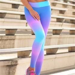 Neon Rainbow Women's Leggings Printed Yoga Pants Workout