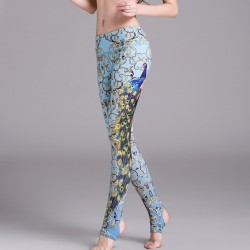 Ornate Peacock Stirrup Women's Leggings Printed Yoga Pants Workout