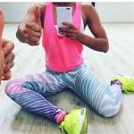 Pastel Zebra Rainbow Women's Leggings Printed Yoga Pants Workout
