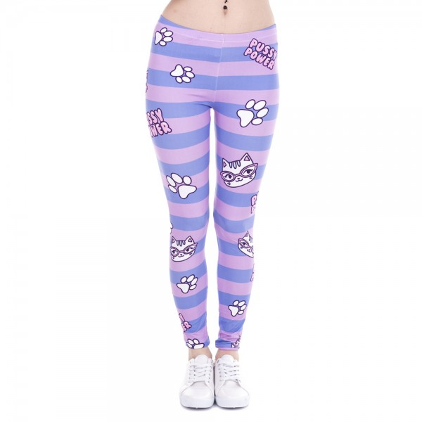 Pussy Power Women's Leggings Printed Yoga Pants Workout