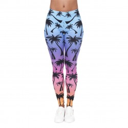 Rainbow Palm Trees Women's Leggings Printed Yoga Pants Workout