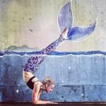 Shades of Purple Mermaid Scales Women's Leggings Printed Yoga Pants Workout