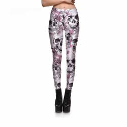 Skulls and Peach Blossoms Women's Leggings Yoga Workout