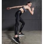 Stripes on Black Women's Leggings Printed Yoga Pants Workout