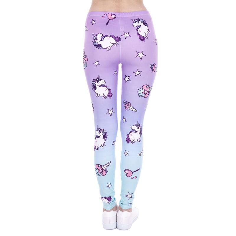 Unicorns And Cupcakes Women's Leggings Printed Yoga Pants