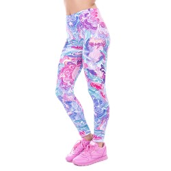Whimsical Floral Women's Leggings Printed Yoga Pants Workout