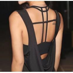Elegant Back Strappy Black Bralette - Crop Top - Tank Top