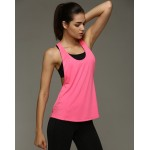 Loose Fit Side Racerback Tank - Quick Dry Workout Breathable Yoga