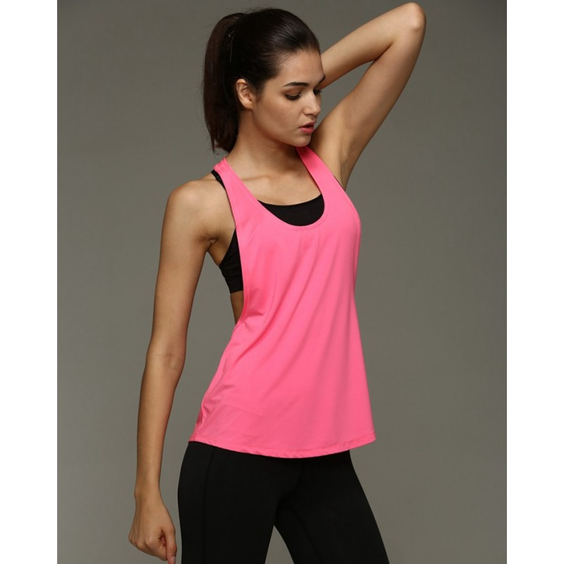 Loose Fit Side Racerback Tank - Quick Dry Workout ...