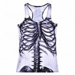 My Skeleton Bones Women's Racerback White Tank Top