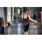 Open Back Scoop Strappy Tank Top - Quick Dry Workout Breathable Yoga