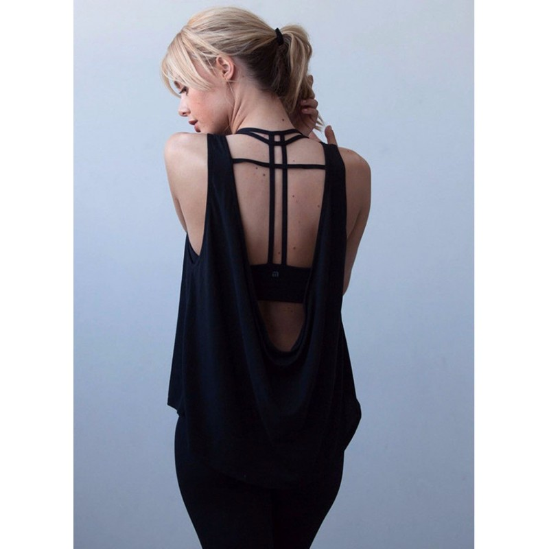 Womens Yoga Workouts Strappy Back Sport Tank: Strappy Scoop Back Tank