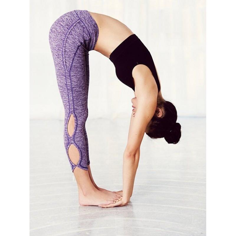 Yoga pants with side cutouts-7267