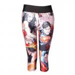 Wonder Woman and Superman Women's Leggings Printed Yoga Pants Workout Capri Activewear
