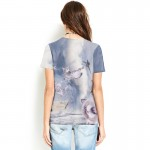 Adorable Cat Explosion Harajuku Women's Tee - Short Sleeved T-Shirt