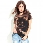 Black Cat with Gold Chain Women's Tee - Short Sleeved T-Shirt