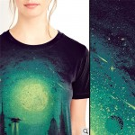 City in Space by Moonlight Women's Tee - Short Sleeved T-Shirt