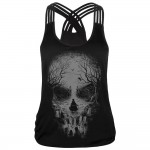 Haunted Skull Women's Racerback Strappy Tank Top