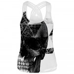Skulls and Lace Women's Racerback Strappy Tank Top