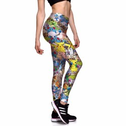 Pokemon and Friends Women's Leggings Printed Yoga Pants Workout Activewear