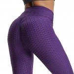 High Waisted Waffle Active Women's Leggings Printed Yoga Gym Pants Workout - Choose From 12 Colors
