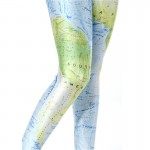 New World Map Women's Leggings Yoga Workout Capri Pants