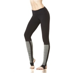 Black and Gray Stirrup Women's Leggings Yoga Workout